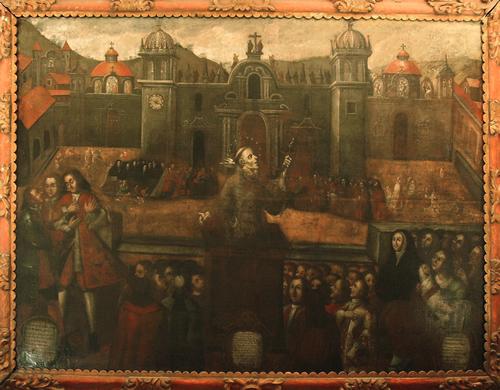 San Pedro de Alcántara predicando el arrepentimiento